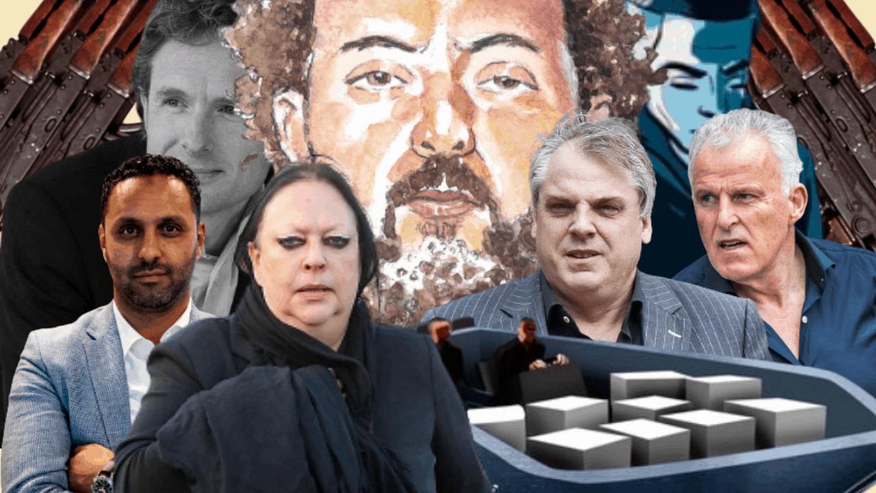 Ridouan Taghi, Marengo-proces, Peter R. de Vries. Khalid Kasem, Derk Wiersum, Nabil B.